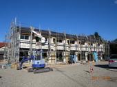 茨城県古河市諸川でメゾネット賃貸住宅「メゾネットパークDUO」建築中(その1)